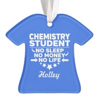 Chemistry Student No Life or Money Ornament