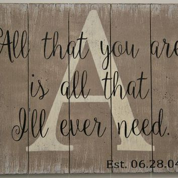 All That You Are Is All That I'll Ever Need Initial Sign