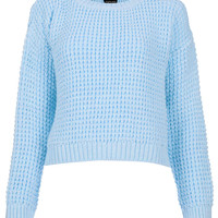 Knitted Textured Crop Jumper - Knitwear - Clothing - Topshop