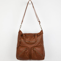 T-Shirt & Jeans Moto Stitch Pocket Tote Bag Cognac One Size For Women 23511340901