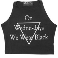 MYVL Wednesdays Sleeveless Crop Top
