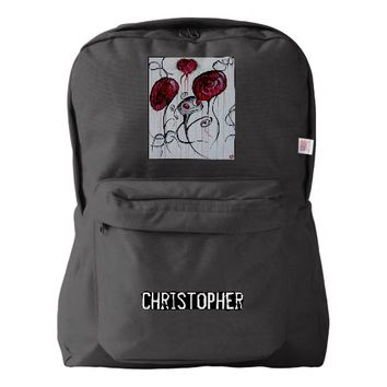 Cute and Creepy Creature Goth Original Art Backpack