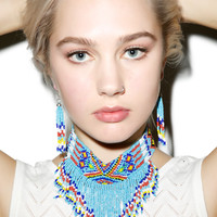 Western Fashion The Colored Wind Beaded Choker Multi One