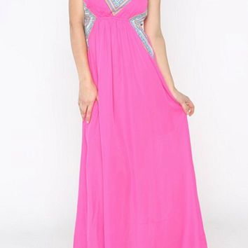 Light up the Room Fuchsia Maxi Dress