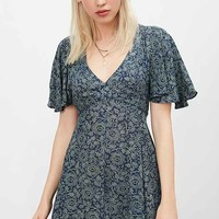 Kimchi Blue Lisa Cape-Sleeve Mini Dress