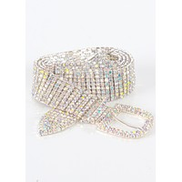 Iridescent Crystal Rhinestone Belt
