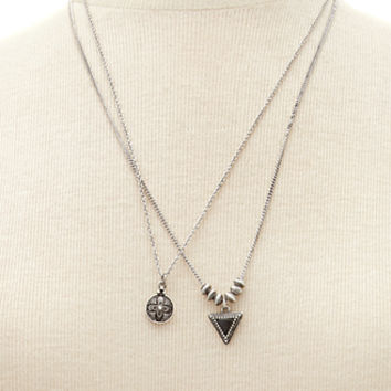 Burnished Pendant Necklace Set