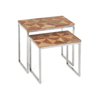 Iron Clad Nesting Tables - Set of 2