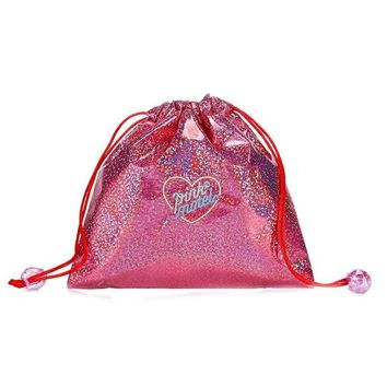 Hologram Shiny Pink Drawstring Bags Cinch String Backpack Funny Funky Cute Novelty