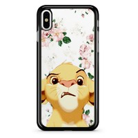 Floral Simba iPhone X Case