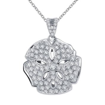 Lafonn Classic Sterling Silver Platinum Plated Lassire Simulated Diamond Necklace (1.58 CTTW)