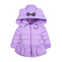 BibiCola autumn winter Toddler clothing baby girls jacket coats kids thick bow cute jacket New baby outerwear Hooded Jacket