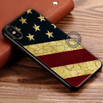 American Flag Primitive iPhone X 8 7 Plus 6s Cases Samsung Galaxy S8 Plus S7 edge NOTE 8 Covers #iphoneX #SamsungS8