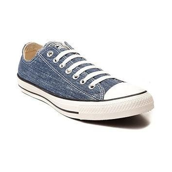 Converse Chuck Taylor All Star OX Washed Canvas Low Top Sneakers 147038F Navy 10 D(M)