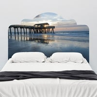 Paul Moore's Pier at Dusk Adhesive Headboard wall decal