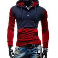 The Pismo Colorblock Hoodie Red