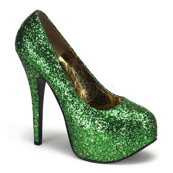 5 3/4 Inch High Heel Glitter Pump-Saint Patrick's Day Collection
