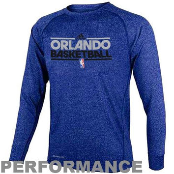 adidas Orlando Magic Youth ClimaLITE Heathered Performance Long Sleeve T-Shirt - Royal Blue - http://www.shareasale.com/m-pr.cfm?merchantID=7124&userID=1042934&productID=520937656 / Orlando Magic