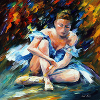 """AFTER THE SHOW  —  Oil Painting On Canvas By Leonid Afremov - Size: 30""""x30"""""""