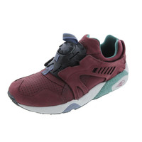 Puma Mens Disc Blaze Crackle Leather Running, Cross Training Shoes