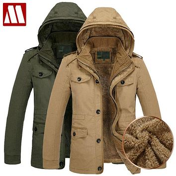 New Arrival Men's Coat Fur Liner Winter Outerwear Parka Men Man Clothes Military Hoodies Thick Coats & Jackets Fashion Fitness