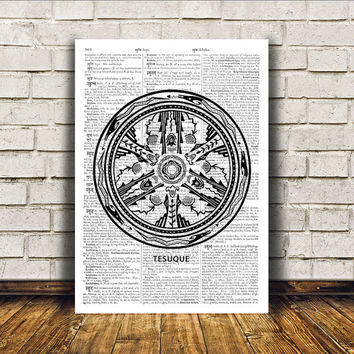 Aztec poster Tribal art Native American print Wall decor RTA307