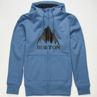 Burton Bonded Mens Hoodie Blue  In Sizes