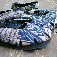 Mary Jane Womens Shoe In Pale Pink Or Green Hand Woven Isaan Textiles, Vegan Espadrille