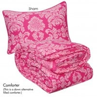 Wake Up Frankie - Damsel in Damask Comforter Set : Teen Bedding, Pink Bedding, Dorm Bedding, Teen Comforters