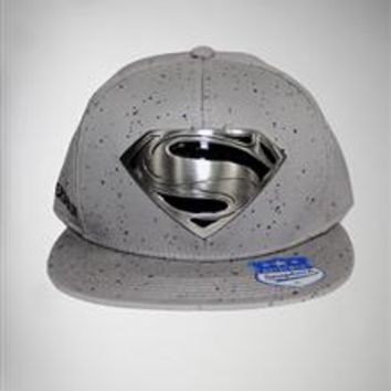 Superman 'Man of Steel' Metal Emblem Snapback Hat