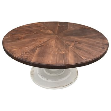 Round Lanette Farm Table with Pin Point Style Top