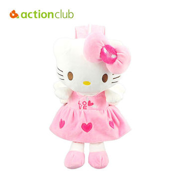 Actionclub Baby Toys Baby Plush Backpack Cartoon Children School Bags Kawaii Dolls Bags For Kindergarten Kids Baby Girls Bag