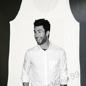 Adam Levine Tongue Tank Top Maroon 5 T Shirts Rock T Shirt Tank Top Women Tunic Singlet Sleeveless White Shirt Vest Women Shirt Size S, M, L