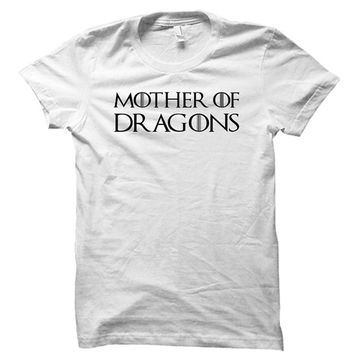 Mother of dragons - Gray/White Unisex T-Shirt - 047