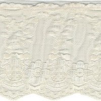 """Wrights Ruffled Fancy Lace 3-1/2"""" Wide 12 Yards-Natural 186 2502-029"""