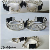 Personalized Couples Bracelet Custom Leather Bracelet