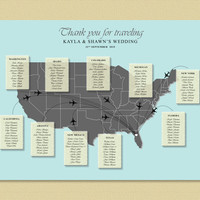 US Map Wedding Seating Chart , Map Wedding Table Plan, Wedding Seating, Travel Wedding Theme, Printable Seating Chart, UK