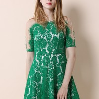 Emerald Grace Full Lace Dress