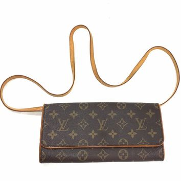 LOUIS VUITTON Monogram Twin GM Clutch