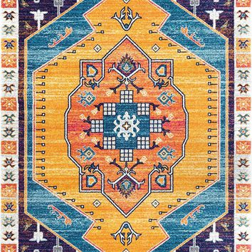 9350 Multi Color Medallion Oriental Area Rugs