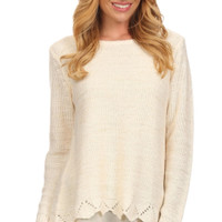 Beauty in the Details Layered Knit Sweater