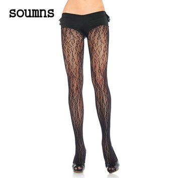 Soumns Sexy Pantyhose Tights Women Female Stockings Leopard Net Pantyhose LC79515  Accessories Pantyhose Stocking  Hosiery