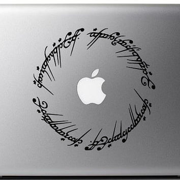 "5"" Elvish Circle decal inspired by The Lord of the Rings- Mac Decal Macbook Stickers Macbook Decals Apple Decal Macbook Pro Sticker Macbook"
