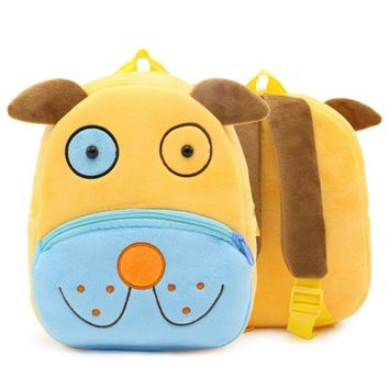 Boys Backpack Bag 3D Cute Cartoon Animal Plush Child School Bags Kindergarten Mini  Kids Girls Schoolbag Toddler Baby Stuffed Toy Bag AT_61_4