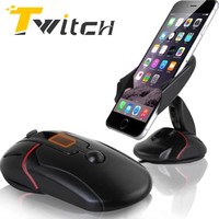 Twitch Car Sucker Phone Stand Holder Navigate Case For iPhone  5s6 7 Plus For Samsung Galaxy S5 S6 360 Rotating Socket Mount