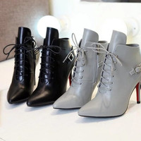 Jimmy Choo Leather Lace Up Ankle Boots (2 colors)
