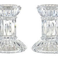 Fluted  Candleholders, Pair
