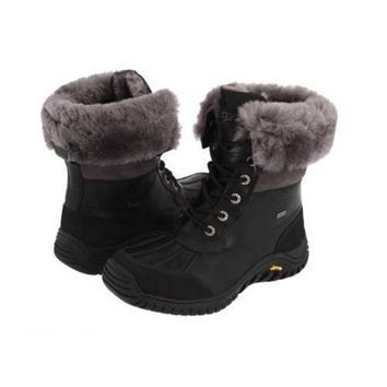 DCCKIN2 Discount Ugg Boots Adirondack II 5469 Black For Women 122 77