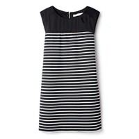 Bqueen Stitching Stripe Dress Black NH11H - Designer Shoes|Bqueenshoes.com