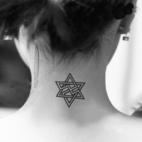 InknArt Temporary Tattoo - 2pcs Star pattern wrist quote tattoo body sticker fake tattoo wedding tattoo small tattoo